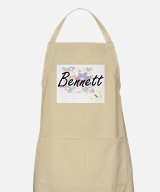 Bennett surname artistic design with Flowers Apron