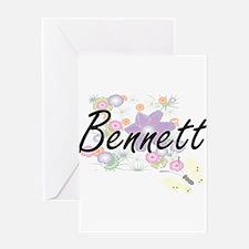 Bennett surname artistic design wit Greeting Cards