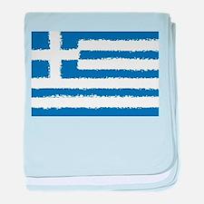 8 bit flag of Greece baby blanket