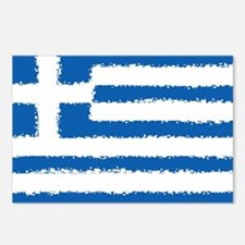 8 bit flag of Greece Postcards (Package of 8)