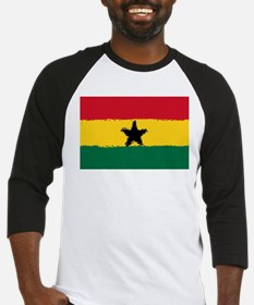 8 bit flag of Ghana Baseball Jersey