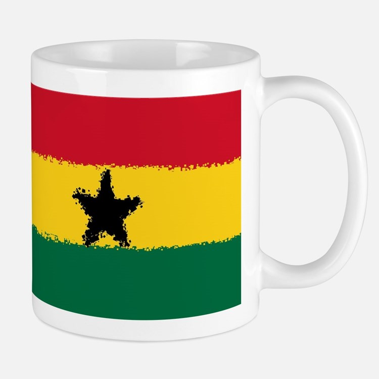 8 bit flag of Ghana Mugs