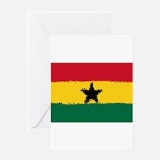 8 bit flag of Ghana Greeting Cards