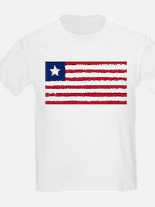 8 bit flag of Liberia T-Shirt