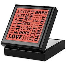 FAITH, HOPE, LOVE Keepsake Box