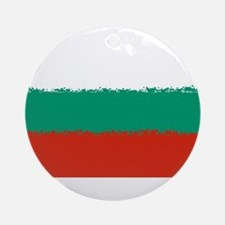 Bulgaria in 8 bit Round Ornament