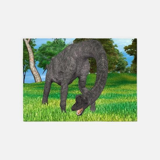 Dinosaur Brachiosaurus 5'x7'Area Rug