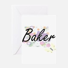 Baker surname artistic design with Greeting Cards