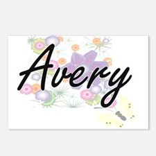 Avery surname artistic de Postcards (Package of 8)