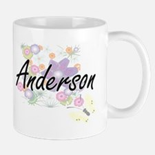 Anderson surname artistic design with Flowers Mugs