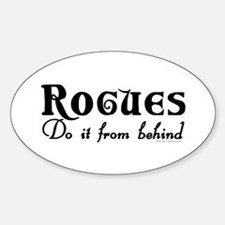 Rogues Do it From Behind Oval Decal