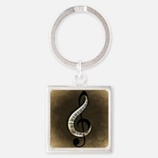 Cute Vintage sheet Square Keychain