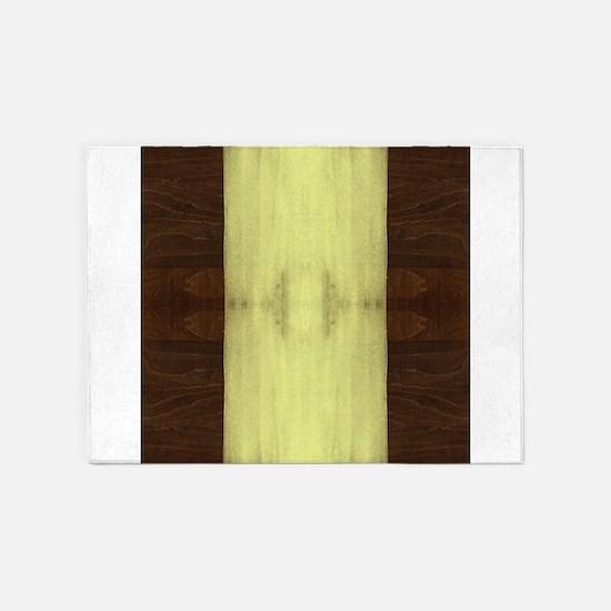 Yellow Paint on Wood 5'x7'Area Rug