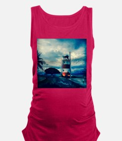 Lighthouse in Costa Rica Maternity Tank Top