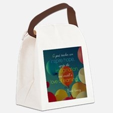 A Good Teacher Quote Canvas Lunch Bag