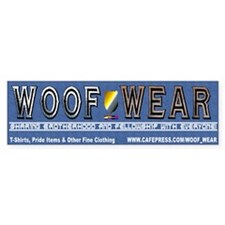 Woof Wear Bumper Bumper Sticker
