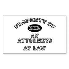 Property of an Attorneys At Law Sticker (Rectangul
