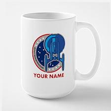 Personalized Star Trek Enterprise Emblem Large Mug
