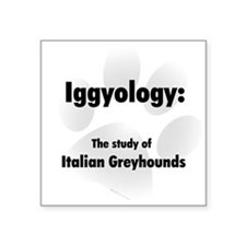 "Unique Italian greyhounds Square Sticker 3"" x 3"""