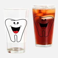 Cute Dental student Drinking Glass