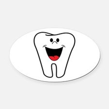 Funny smiley faces Oval Car Magnet