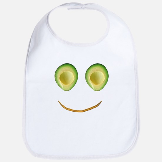 Cute Avocado Face Rhonda's Fave Bib