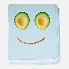 Cute Avocado Face Rhonda's Fave baby blanket