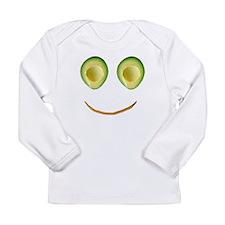 Cute Avocado Face Rhonda's Fave Long Sleeve T-Shir
