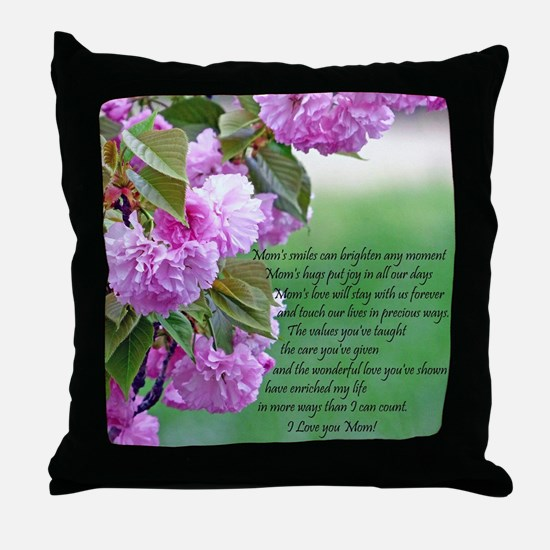 Mothers Day Poem Throw Pillow