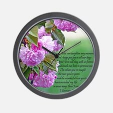 Mothers Day Poem Wall Clock
