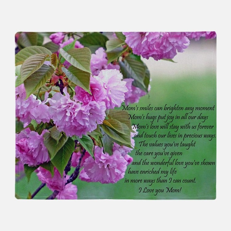 Mothers Day Poem Throw Blanket