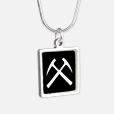 Crossed Rock Hammers Necklaces