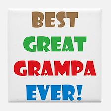 Cute Great grandpa to be Tile Coaster