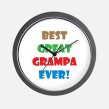 Funny Great grandpa to be Wall Clock