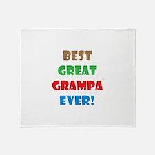 Cute Grampa Throw Blanket
