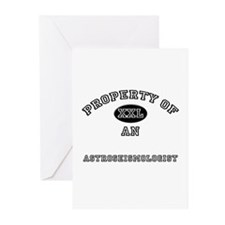 Property of an Astroseismologist Greeting Cards (P