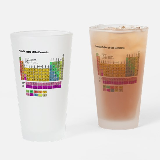 Cute Periodic table of elements Drinking Glass