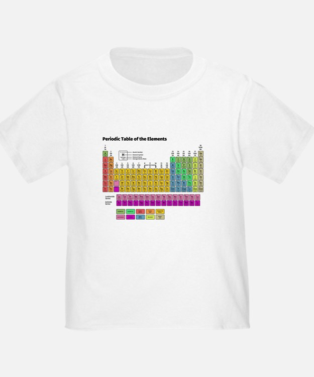 Periodic table of elements t shirts shirts tees for Custom periodic table t shirts