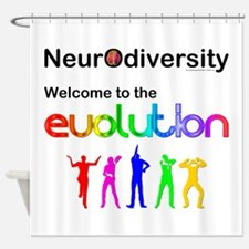 Neurodiversity Evolution Shower Curtain