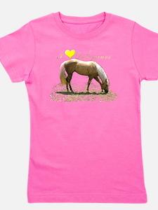 Unique Horseback riding Girl's Tee