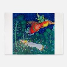 Russian Fairy Tale - The Firebird b 5'x7'Area Rug