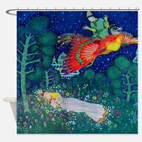Russian Fairy Tale - The Firebird b Shower Curtain