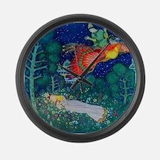 Russian Fairy Tale - The Firebird Large Wall Clock