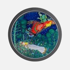 Russian Fairy Tale - The Firebird by Ed Wall Clock