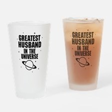 Greatest Husband In The Universe Drinking Glass