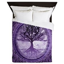Tree of Life in Purple Queen Duvet
