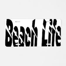 Cute Beach tote Aluminum License Plate