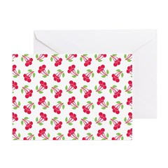 Cherries Pattern Greeting Cards (Pk of 20)
