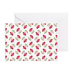 Cherries Pattern Greeting Cards (Pk of 10)