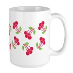 Cherries Pattern Large Mug (15 oz)